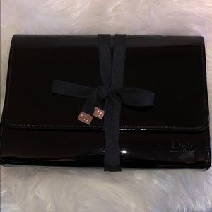 Dior beauty Black Patent Leather Makeup Bag